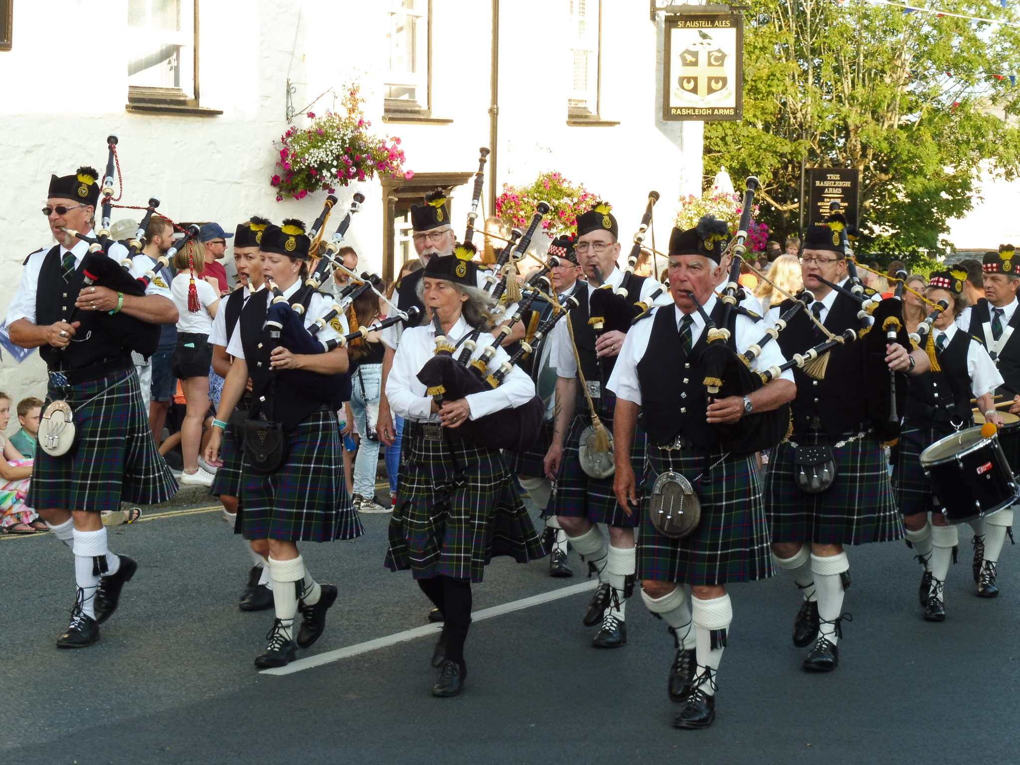 Kernow Pipes and Drums at Charlestown Carnival 2019