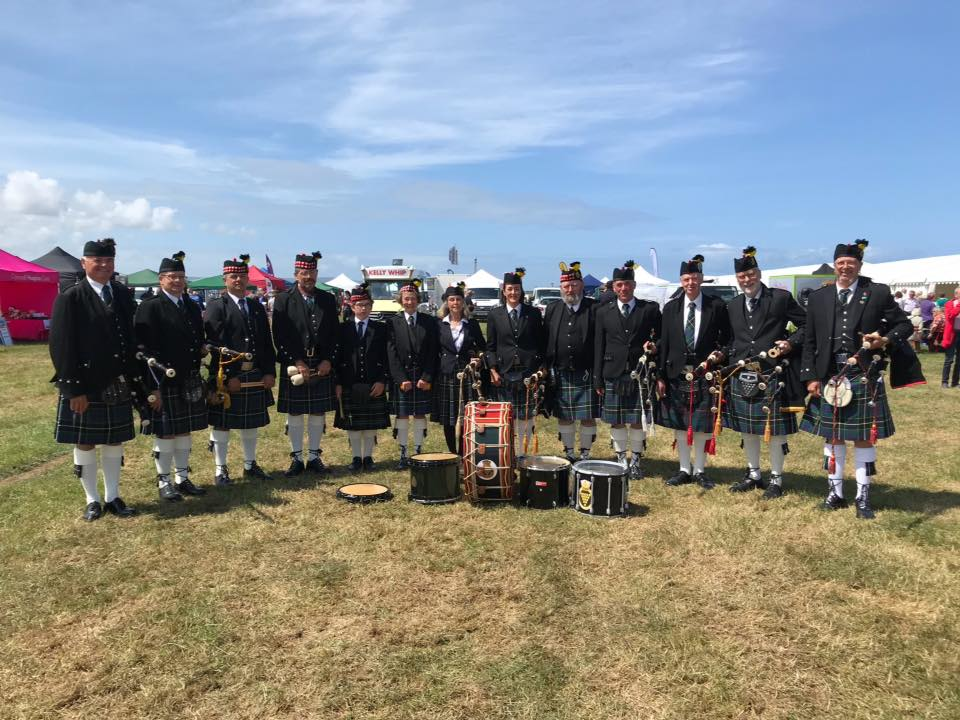 Kernow Pipes and Drums at Camborne Show 2019