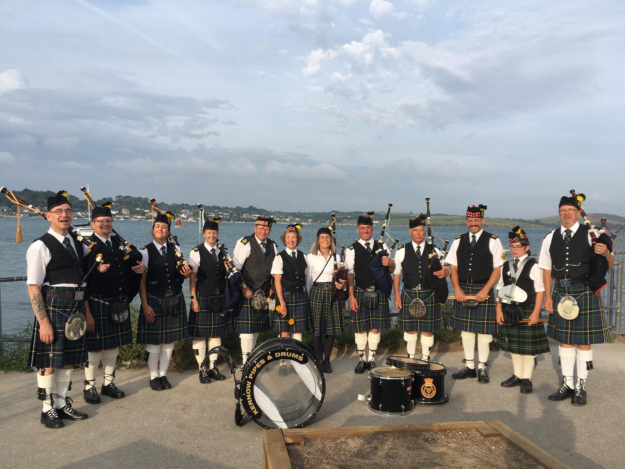 Kernow Pipes and Drums at Padstow carnival 2019