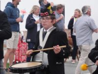 Henry of Kernow Pipes and Drums at St Merryn carnival 2019