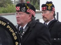Keith of Kernow Pipes and Drums at St Merryn carnival 2019
