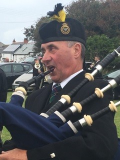 Adam of Kernow Pipes and Drums at St Merryn carnival 2019