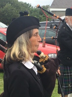 Miranda of Kernow Pipes and Drums at St Merryn carnival 2019