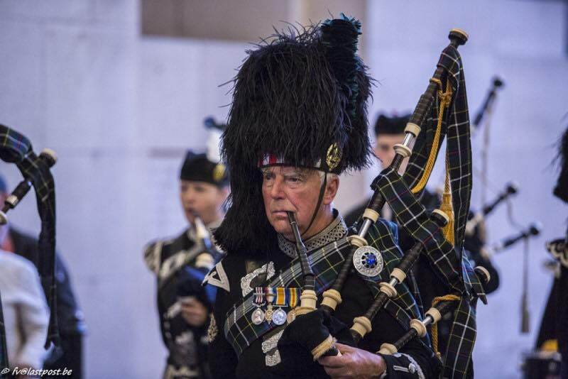 kernow pipes & drums at the menin gate september 2019