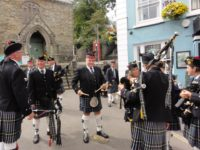 Kernow Pipes and Drums at Falmouth civic parade 2019