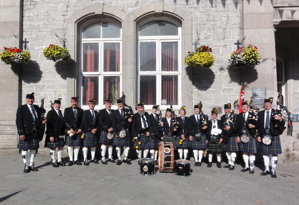 Kernow Pipes and Drums at Falmouth civic parade 2019