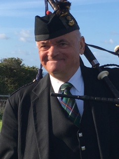 Nigel of Kernow Pipes and Drums at Port Isaac carnival 2019