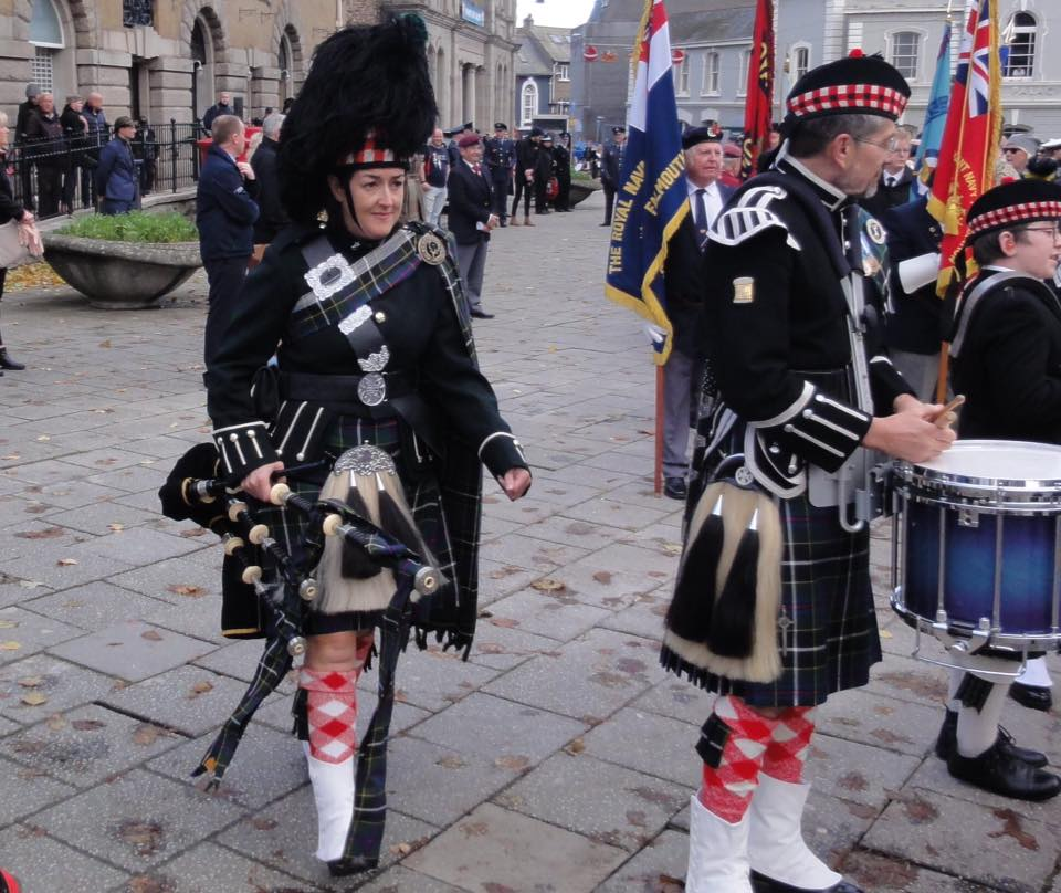 ali and chris of kernow pipes and drums